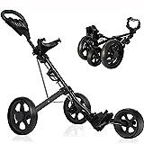KXDLR Golfwagen mit 3 Rädern, drehbar, schnell zusammenklappbar, mit...