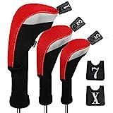 Andux Golf 460cc Holzkopfabdeckungen für Golfschläger mit langem...